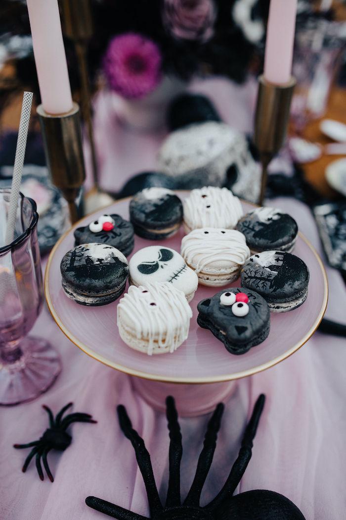Halloween Macarons from a Girly Gothic Halloween Party on Kara's Party Ideas | KarasPartyIdeas.com (16)