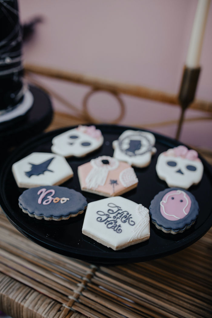 Halloween Cookies from a Girly Gothic Halloween Party on Kara's Party Ideas | KarasPartyIdeas.com (28)