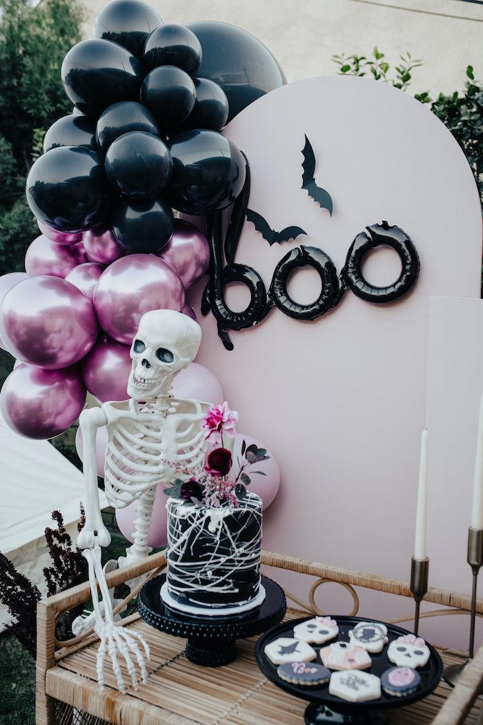 Halloween Dessert Table from a Girly Gothic Halloween Party on Kara's Party Ideas | KarasPartyIdeas.com (27)