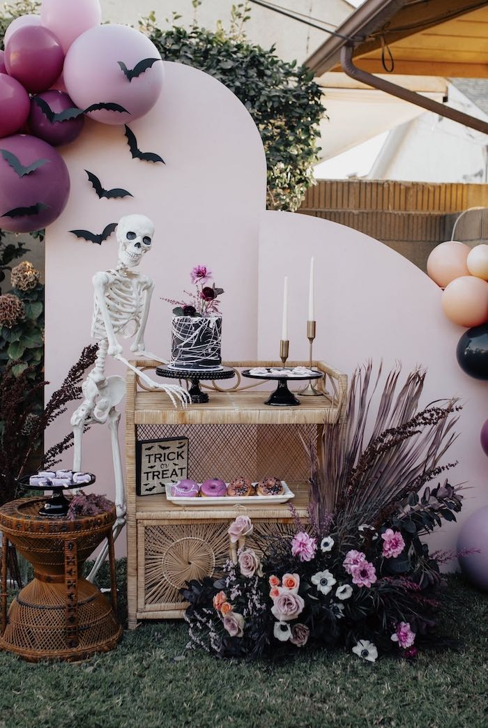 Gothic Halloween Dessert Table from a Girly Gothic Halloween Party on Kara's Party Ideas | KarasPartyIdeas.com (26)
