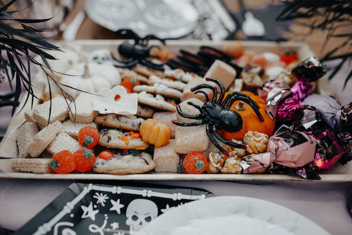 Halloween Snack Board from a Girly Gothic Halloween Party on Kara's Party Ideas | KarasPartyIdeas.com (25)