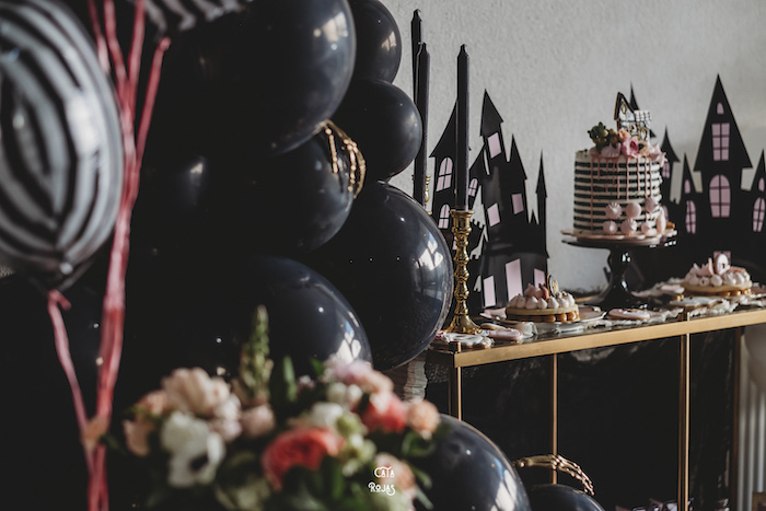 Haunted House Cake Table from a Glam Haunted House Halloween Party on Kara's Party Ideas | KarasPartyIdeas.com (18)
