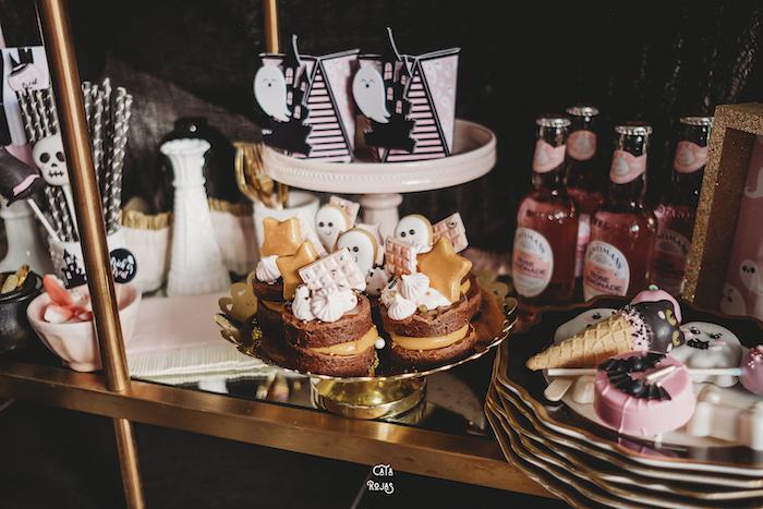 Dessert Spread from a Glam Haunted House Halloween Party on Kara's Party Ideas | KarasPartyIdeas.com (8)