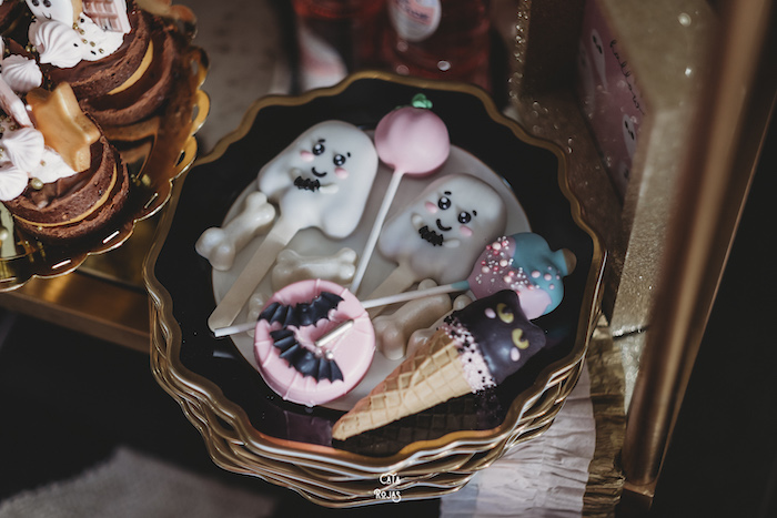 Cute Halloween Desserts from a Glam Haunted House Halloween Party on Kara's Party Ideas | KarasPartyIdeas.com (27)
