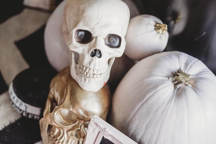 Skulls & Pumpkins from a Glam Haunted House Halloween Party on Kara's Party Ideas | KarasPartyIdeas.com (26)