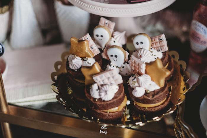 Mini Halloween Cakes from a Glam Haunted House Halloween Party on Kara's Party Ideas | KarasPartyIdeas.com (25)