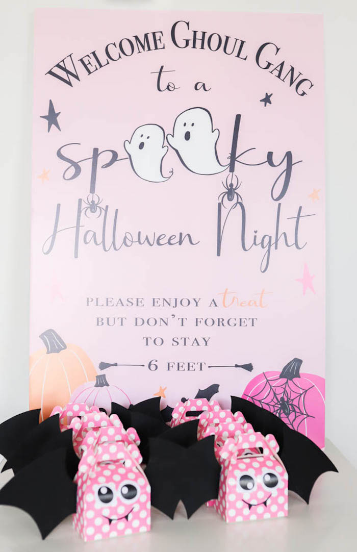 Spooky Halloween Night Welcome Sign from a Halloween Spooktacular on Kara's Party Ideas | KarasPartyIdeas.com (18)