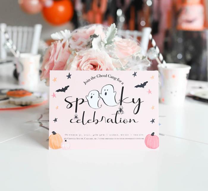 Spooky Celebration Halloween Party Invite from a Halloween Spooktacular on Kara's Party Ideas | KarasPartyIdeas.com (16)