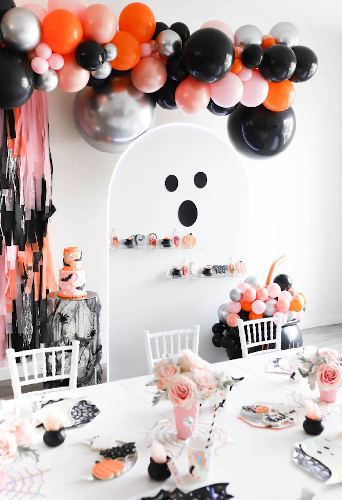 Ghost Treat Wall from a Halloween Spooktacular on Kara's Party Ideas | KarasPartyIdeas.com (12)