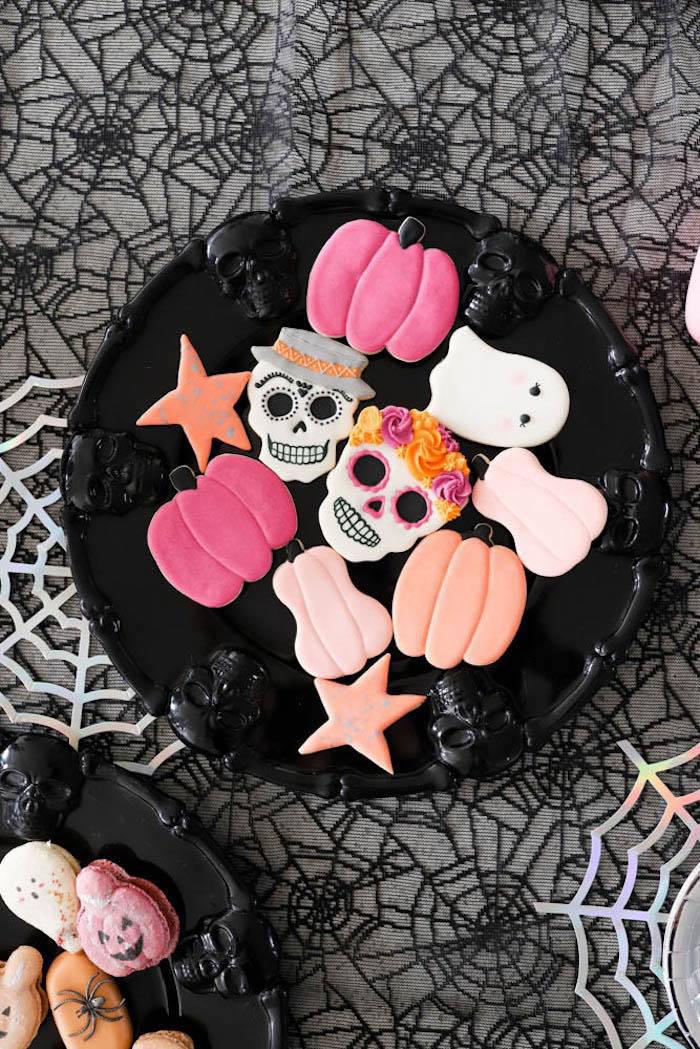 Halloween Cookies from a Halloween Spooktacular on Kara's Party Ideas | KarasPartyIdeas.com (9)