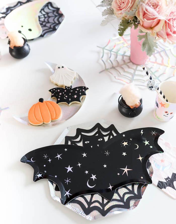 Bat Plate Table Setting from a Halloween Spooktacular on Kara's Party Ideas | KarasPartyIdeas.com (31)