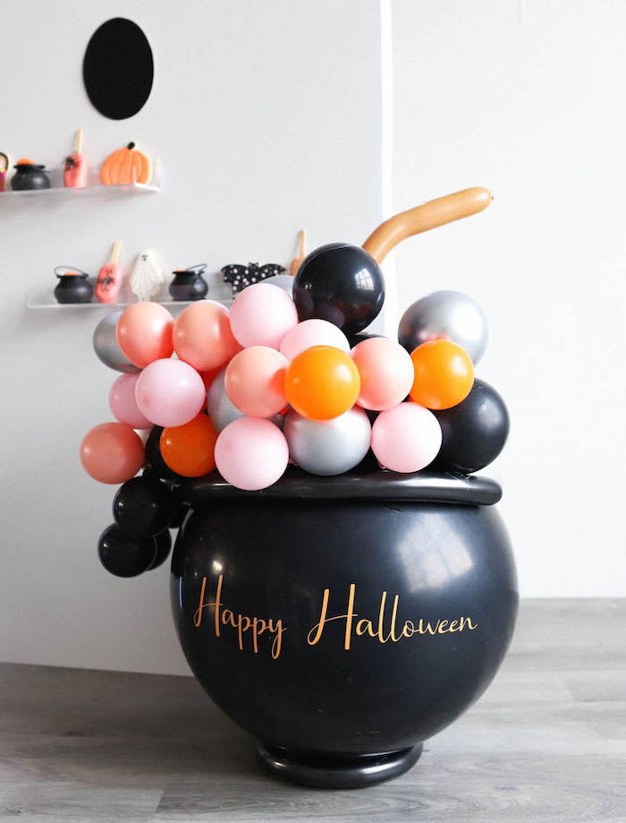 Balloon Cauldron from a Halloween Spooktacular on Kara's Party Ideas | KarasPartyIdeas.com (30)