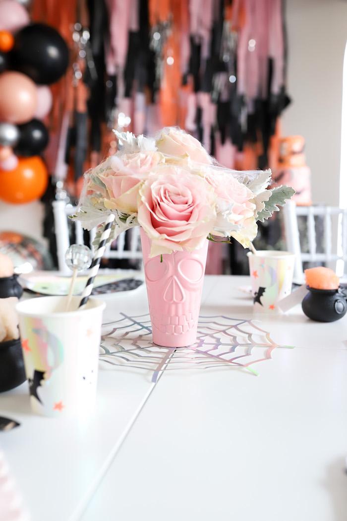 Spooky Skeleton Floral Arrangement from a Halloween Spooktacular on Kara's Party Ideas | KarasPartyIdeas.com (29)