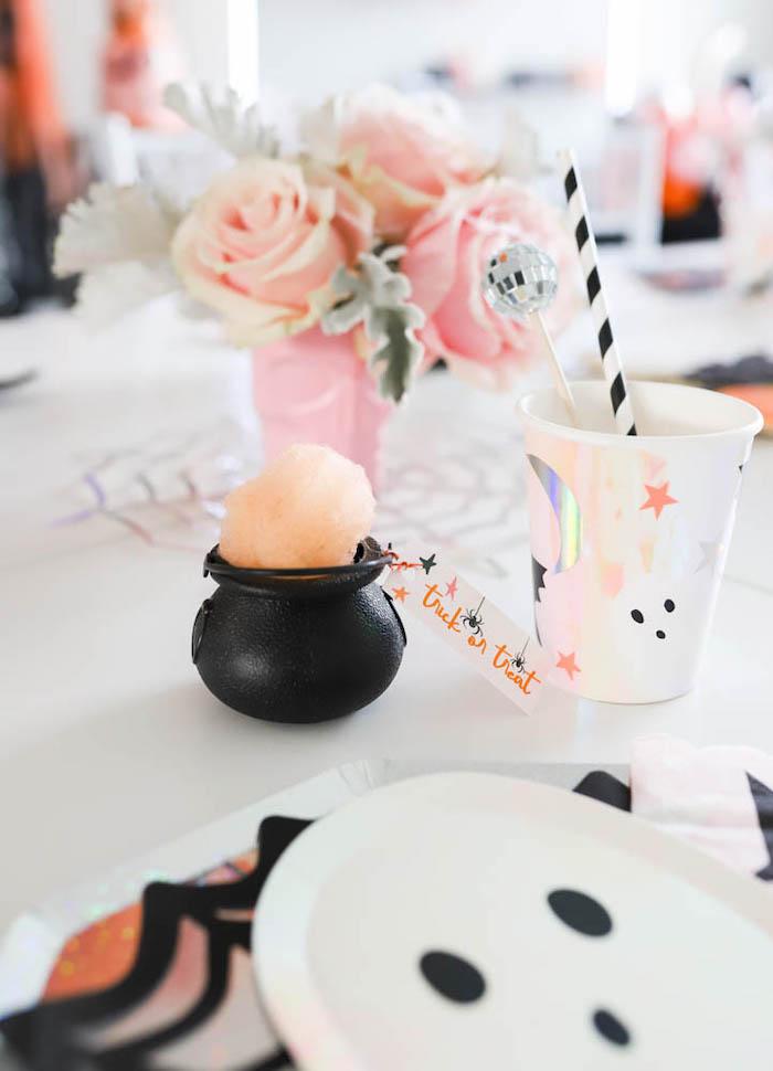Cotton Candy Cauldron from a Halloween Spooktacular on Kara's Party Ideas | KarasPartyIdeas.com (28)