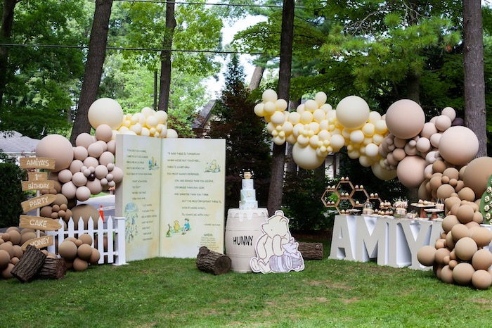 Hundred Acre Wood Winnie the Pooh Party on Kara's Party Ideas | KarasPartyIdeas.com (28)