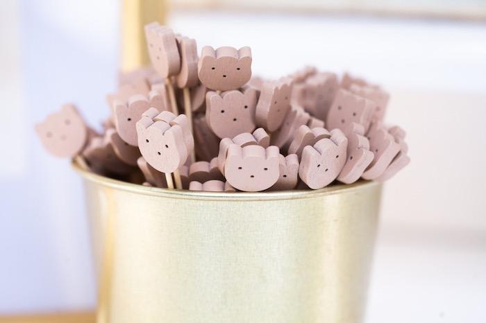 Bear Stir Sticks from a Hundred Acre Wood Winnie the Pooh Party on Kara's Party Ideas | KarasPartyIdeas.com (22)