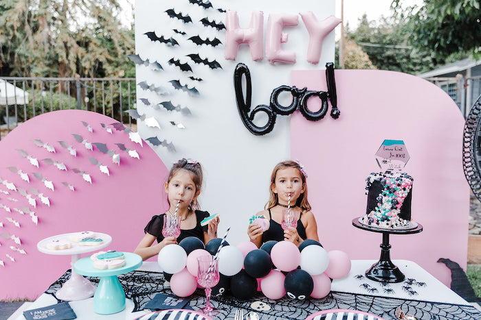 Chic Halloween Kid Table from a Modern Chic Halloween Party on Kara's Party Ideas | KarasPartyIdeas.com (18)