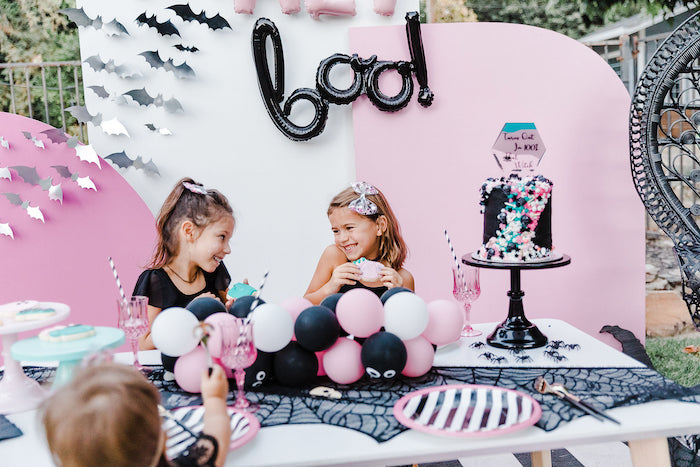 Chic Halloween Kid Table from a Modern Chic Halloween Party on Kara's Party Ideas | KarasPartyIdeas.com (14)
