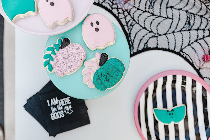Chic Halloween Cookies form a Modern Chic Halloween Party on Kara's Party Ideas | KarasPartyIdeas.com (10)