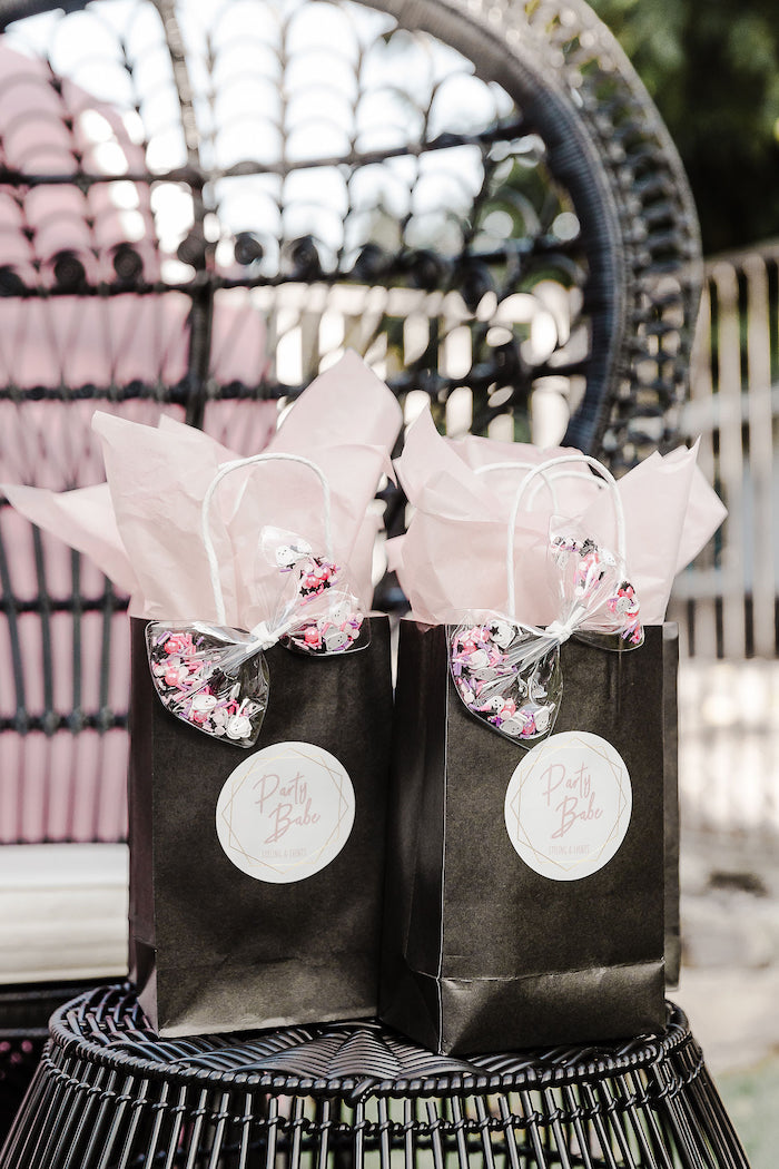 Halloween Party Babe Favor Bags from a Modern Chic Halloween Party on Kara's Party Ideas | KarasPartyIdeas.com (20)