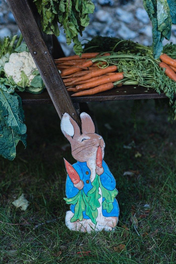 Peter Rabbit Standee from a Peter Rabbit & Friends Secret Garden Party on Kara's Party Ideas   KarasPartyIdeas.com (9)