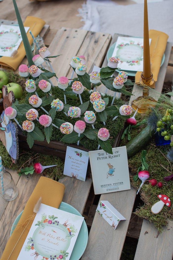 Garden Cake Pops from a Peter Rabbit & Friends Secret Garden Party on Kara's Party Ideas   KarasPartyIdeas.com (7)