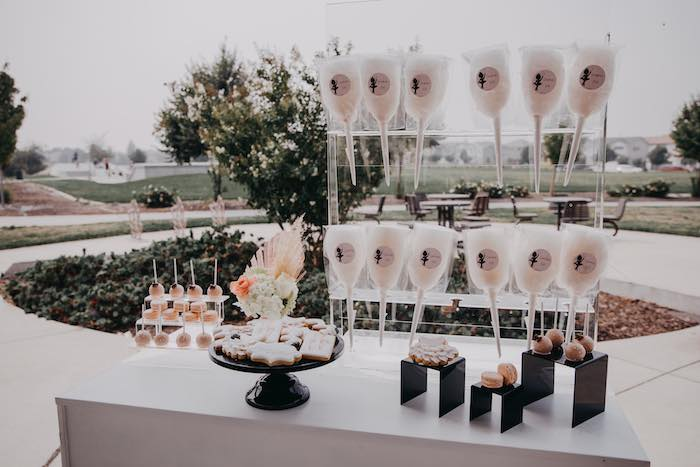 Modern Ballerina Themed Sweet Table from a Pink Ballerina Birthday Party on Kara's Party Ideas | KarasPartyIdeas.com (14)