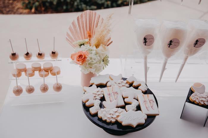 Modern Ballerina Themed Sweet Table from a Pink Ballerina Birthday Party on Kara's Party Ideas | KarasPartyIdeas.com (13)