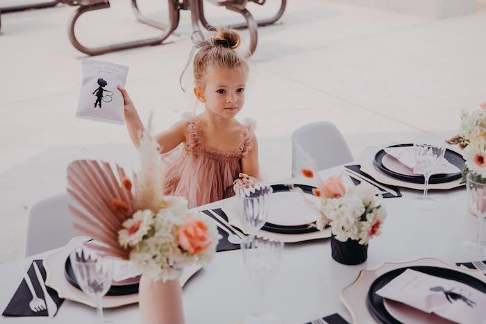 Ballerina-inspired Kid Table from a Pink Ballerina Birthday Party on Kara's Party Ideas | KarasPartyIdeas.com (11)