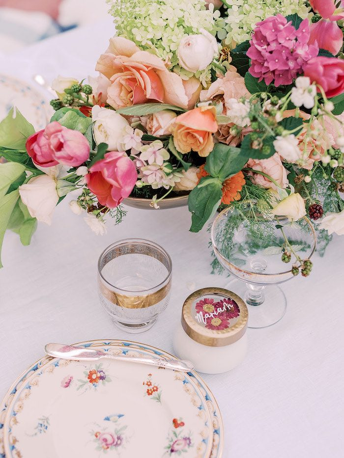 Personalized Table Setting from a Poolside Picnic Party on Kara's Party Ideas | KarasPartyIdeas.com (20)