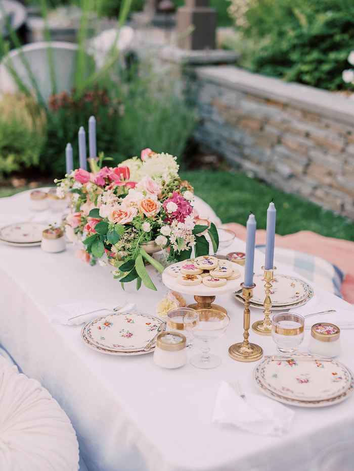 Elegant Picnic Table from a Poolside Picnic Party on Kara's Party Ideas | KarasPartyIdeas.com (18)