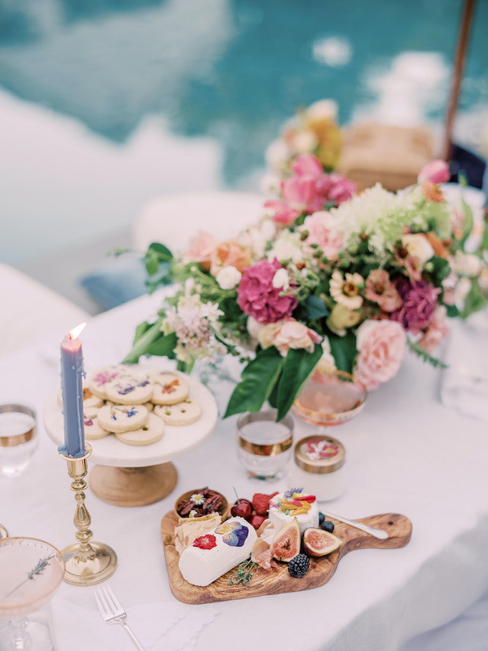 Elegant Picnic Table from a Poolside Picnic Party on Kara's Party Ideas | KarasPartyIdeas.com (12)