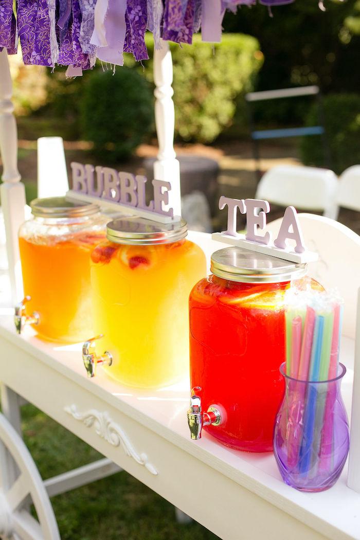 Beverage Bar from a Rainbow Unicorn Birthday Party on Kara's Party Ideas | KarasPartyIdeas.com (35)