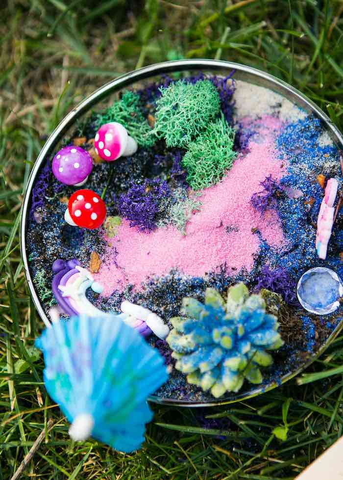 Unicorn Garden from a Rainbow Unicorn Birthday Party on Kara's Party Ideas | KarasPartyIdeas.com (25)