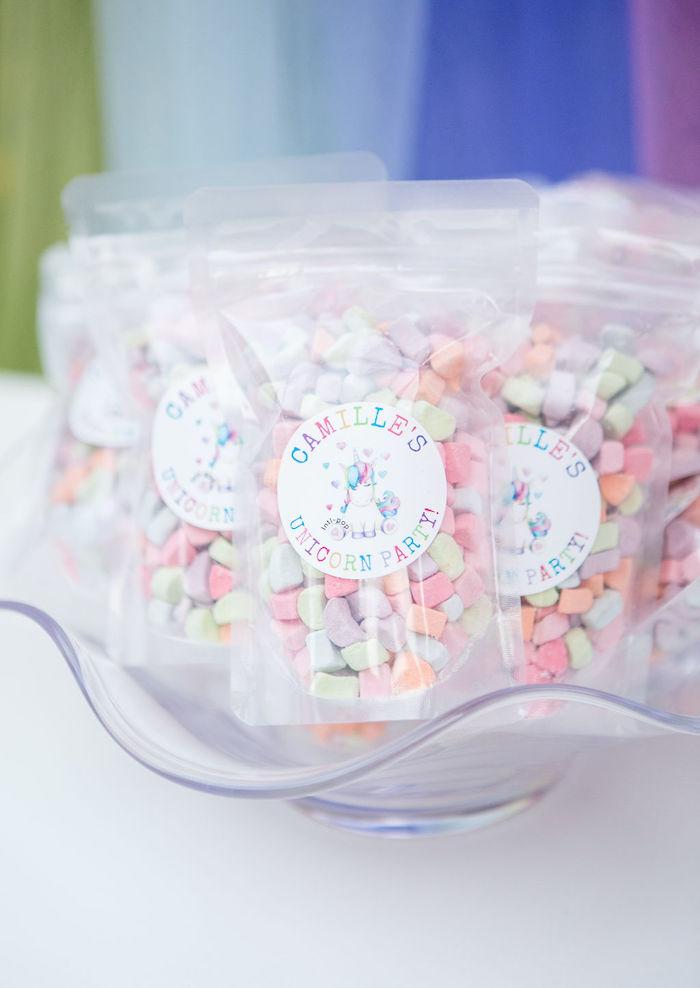 Marshmallows from a Rainbow Unicorn Birthday Party on Kara's Party Ideas | KarasPartyIdeas.com (7)