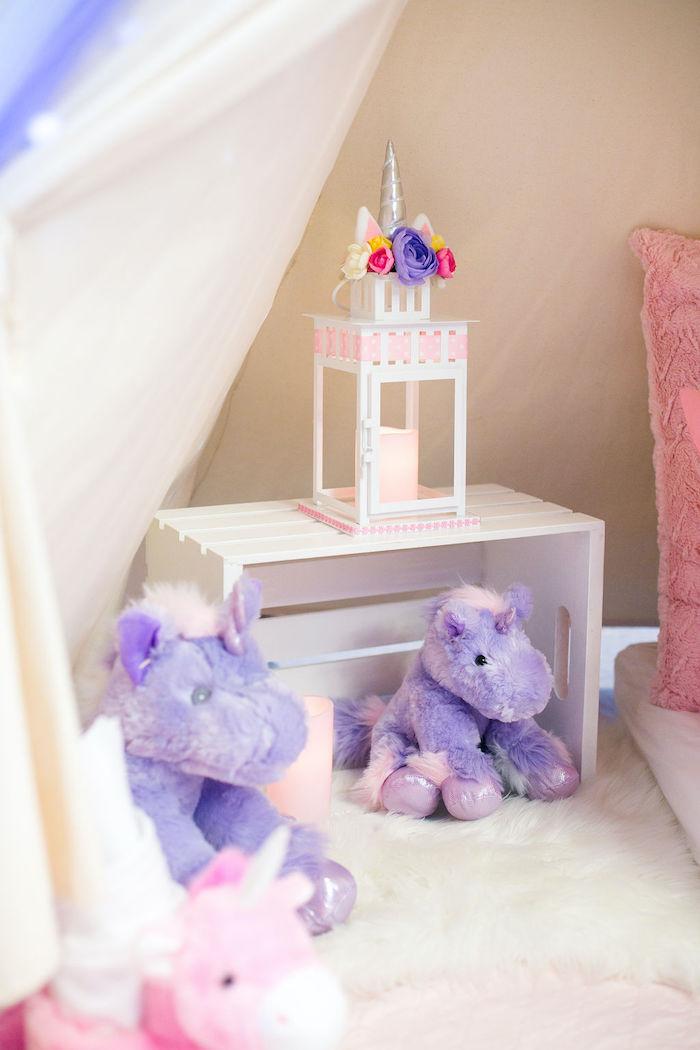 Lantern from a Rainbow Unicorn Birthday Party on Kara's Party Ideas | KarasPartyIdeas.com (54)