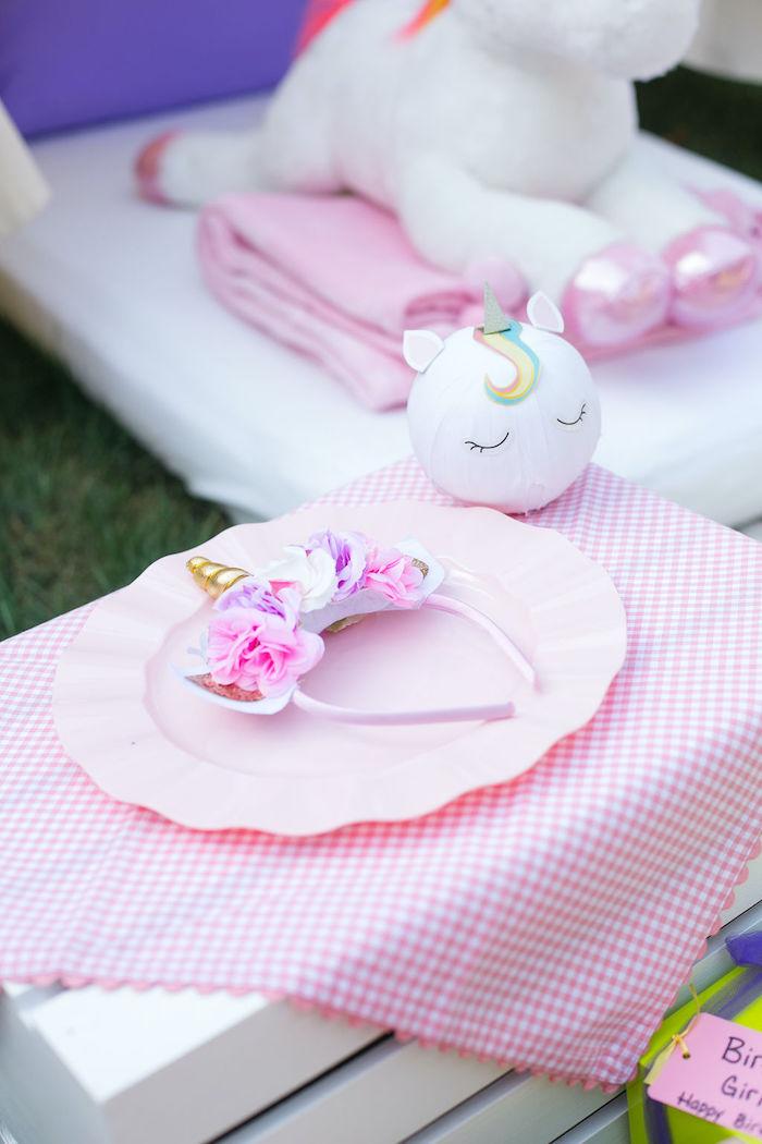 Personal Mini Table from a Rainbow Unicorn Birthday Party on Kara's Party Ideas | KarasPartyIdeas.com (50)