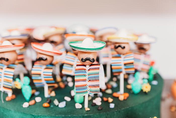 Fiesta Men Cake Pops from a Three-esta 3rd Birthday Fiesta on Kara's Party Ideas | KarasPartyIdeas.com (38)