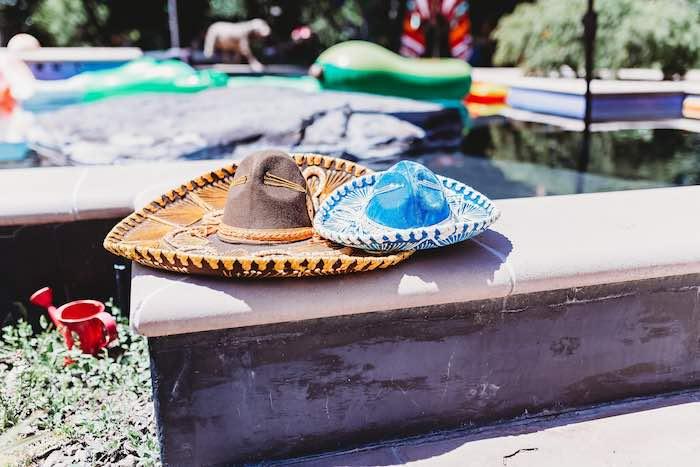 Sombreros from a Three-esta 3rd Birthday Fiesta on Kara's Party Ideas | KarasPartyIdeas.com (35)