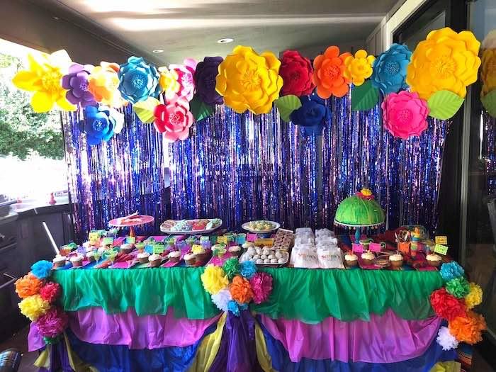 Fiesta Themed Dessert Table from a Three-esta 3rd Birthday Fiesta on Kara's Party Ideas | KarasPartyIdeas.com (33)