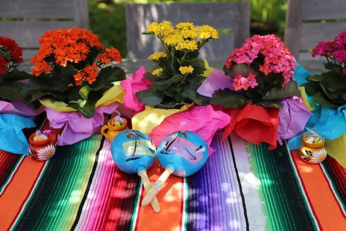 Fiesta Guest Table from a Three-esta 3rd Birthday Fiesta on Kara's Party Ideas | KarasPartyIdeas.com (32)