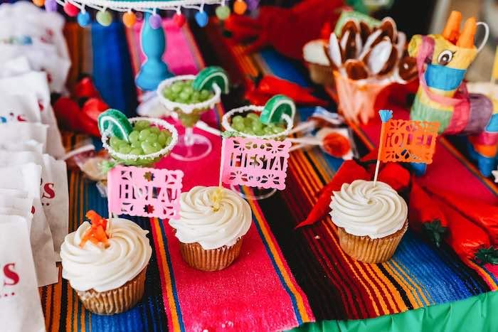 Fiesta Cupcakes from a Three-esta 3rd Birthday Fiesta on Kara's Party Ideas | KarasPartyIdeas.com (30)