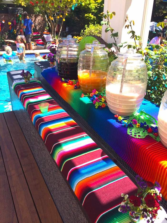 Fiesta Beverage Bar from a Three-esta 3rd Birthday Fiesta on Kara's Party Ideas | KarasPartyIdeas.com (26)