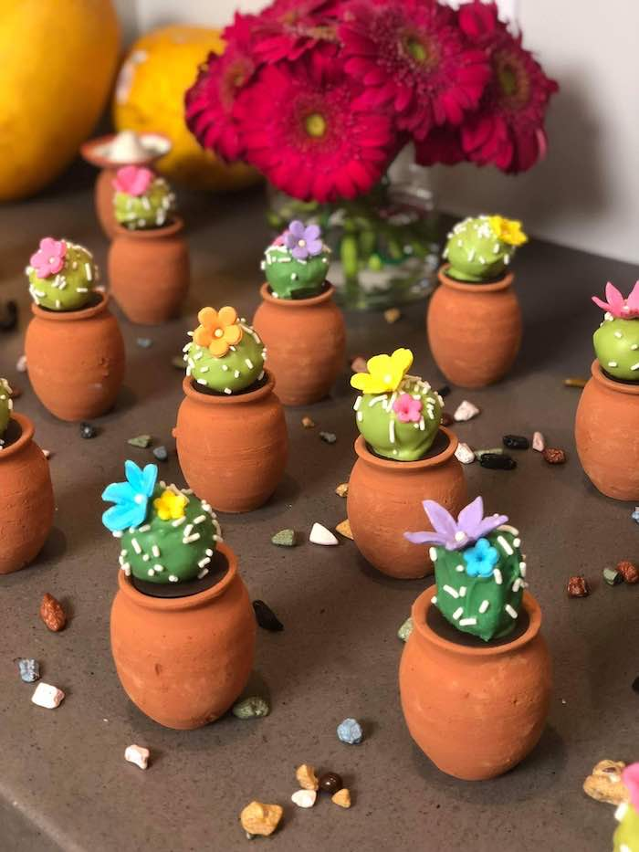 Cactus Cake Pops from a Three-esta 3rd Birthday Fiesta on Kara's Party Ideas | KarasPartyIdeas.com (19)