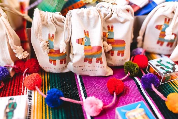 Donkey Pinata-printed Sacks from a Three-esta 3rd Birthday Fiesta on Kara's Party Ideas | KarasPartyIdeas.com (14)