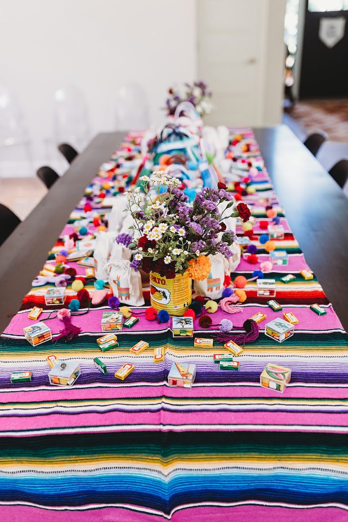 Fiesta Table from a Three-esta 3rd Birthday Fiesta on Kara's Party Ideas | KarasPartyIdeas.com (42)