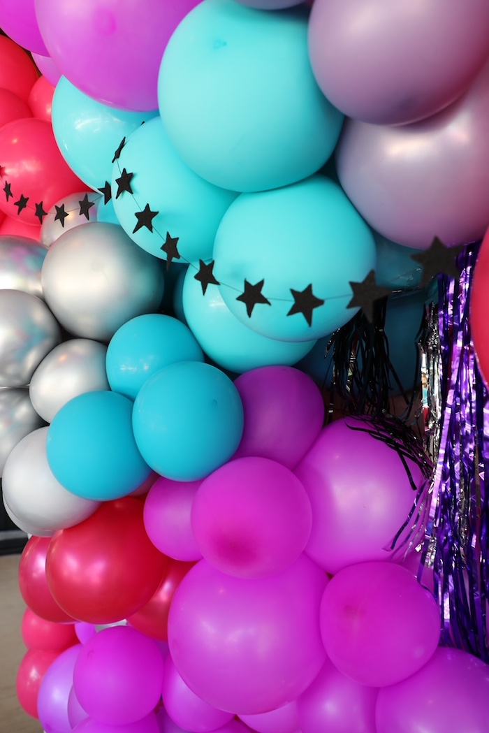 Balloon Wall + Backdrop from a TikTok Teen Birthday Party on Kara's Party Ideas | KarasPartyIdeas.com (20)