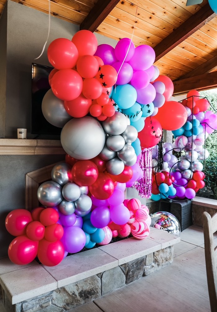 Balloon Wall + Backdrop from a TikTok Teen Birthday Party on Kara's Party Ideas | KarasPartyIdeas.com (19)