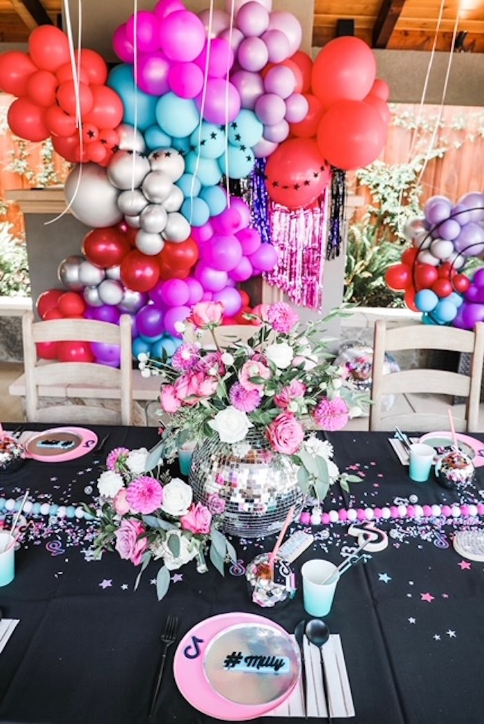 Guest Table from a TikTok Teen Birthday Party on Kara's Party Ideas | KarasPartyIdeas.com (18)