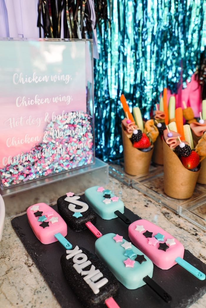 TikTok Cake-inspired Bars from a TikTok Teen Birthday Party on Kara's Party Ideas | KarasPartyIdeas.com (8)